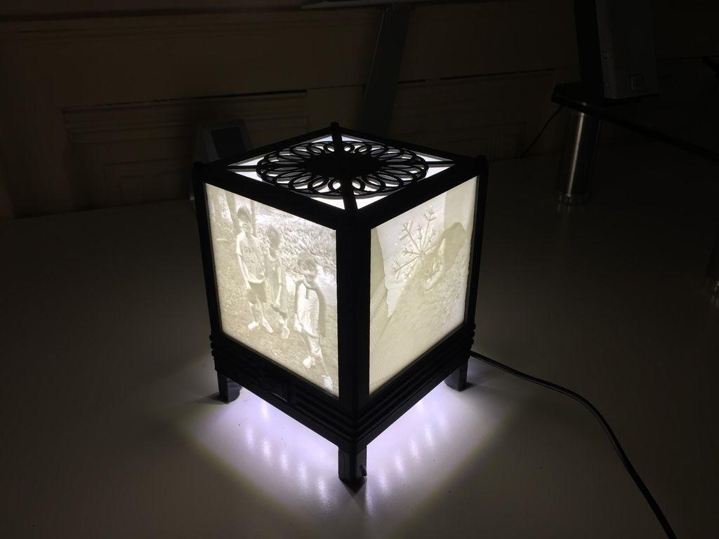 Lithophane Lamp For 100 X 100 Mm Lithophanes By Kaitlynh Lamp 3d Lamp Paper Lamp