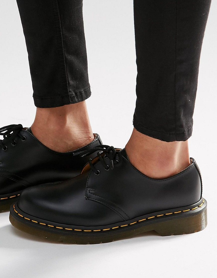 Dr Martens 1461 3 Eye Gibson Flat Shoes Black Dr Martens Shoes Women Dr Martens Shoes Dr Martens Boots