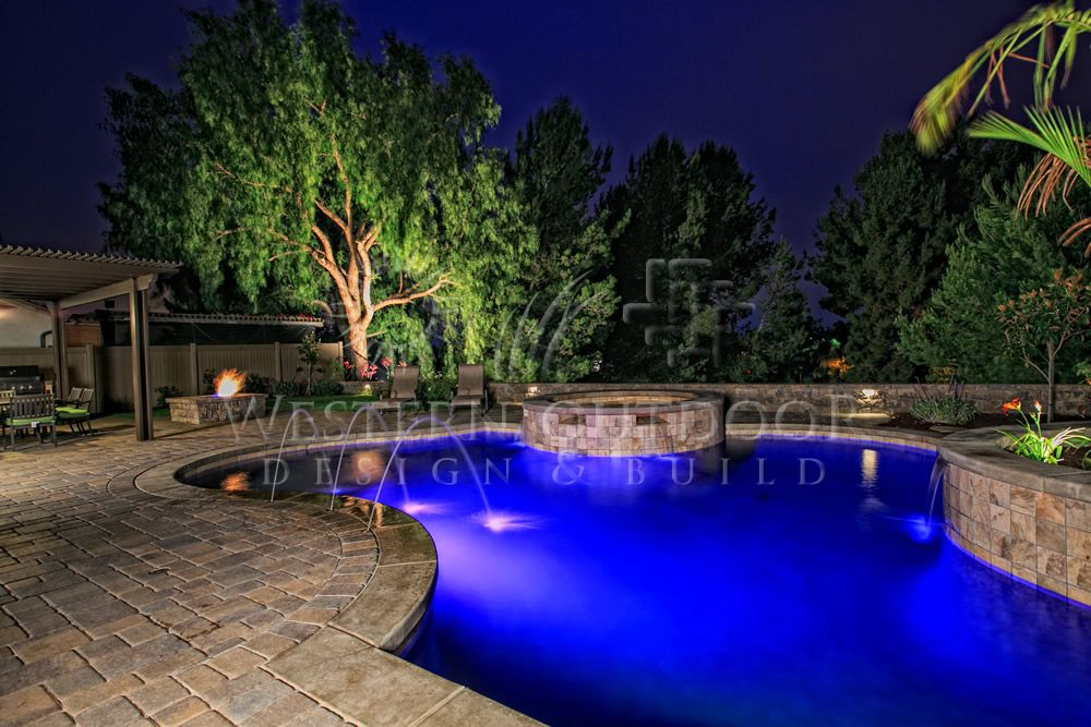 Free Forming Pools And Spas Gallery Western Outdoor Design And Build Serving San Diego Orange Riverside Countie Outdoor Design Beach Entry Pool Custom Pools