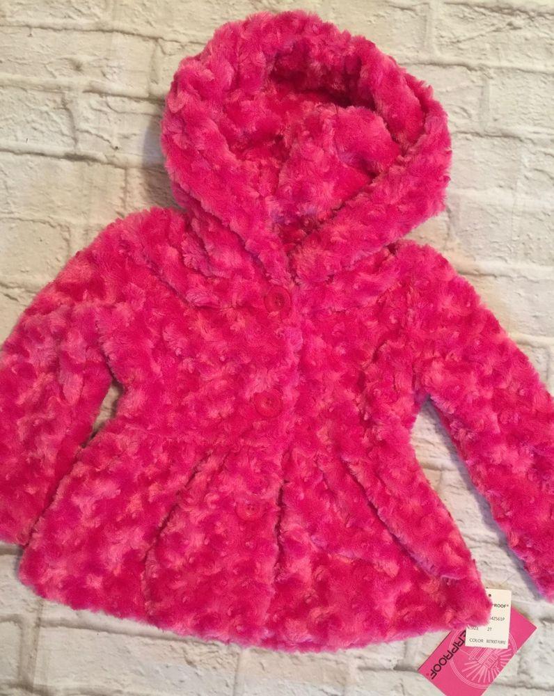 069b5a112 Girls Toddler Weatherproof Bright Pink Dressy Hooded Swing Coat 2T NWT  #weatherproof #Coatjacket #Dressy