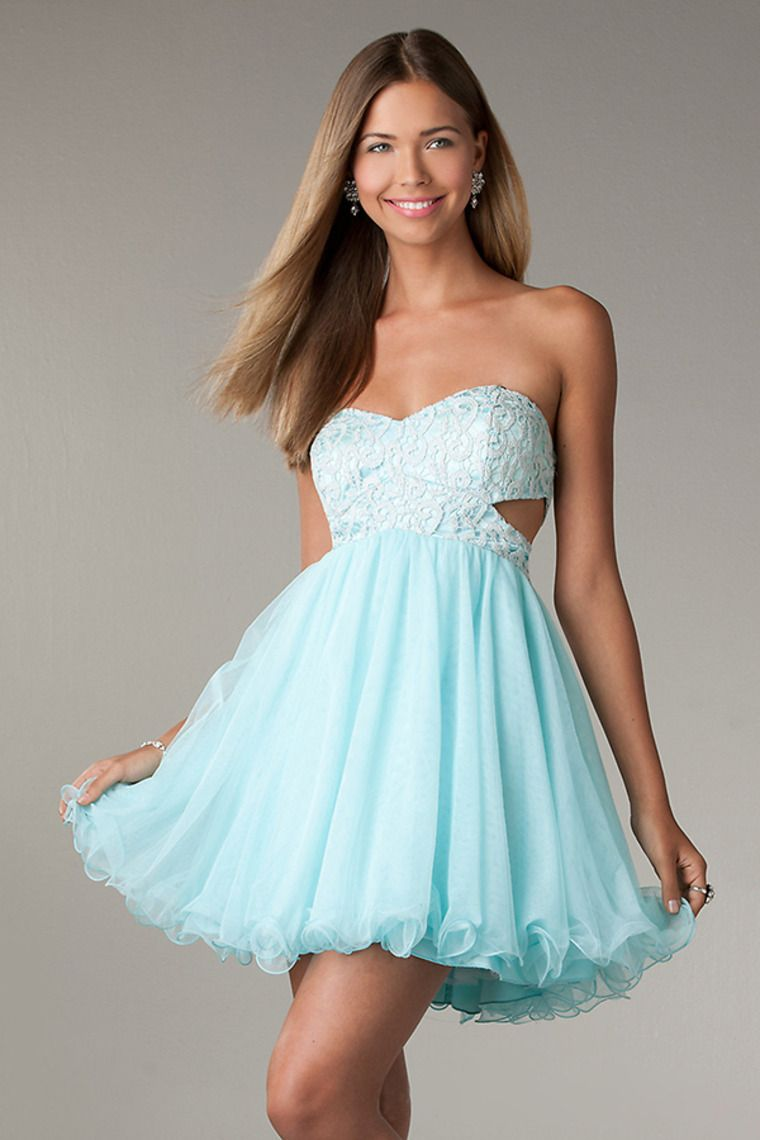2014 Sassy Sweetheart A Line With Lace Covered Bodice Short/Mini ...