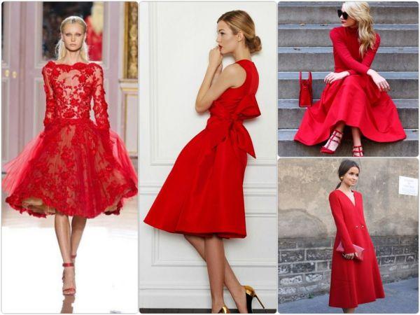 Rotes kleid was pabt dazu