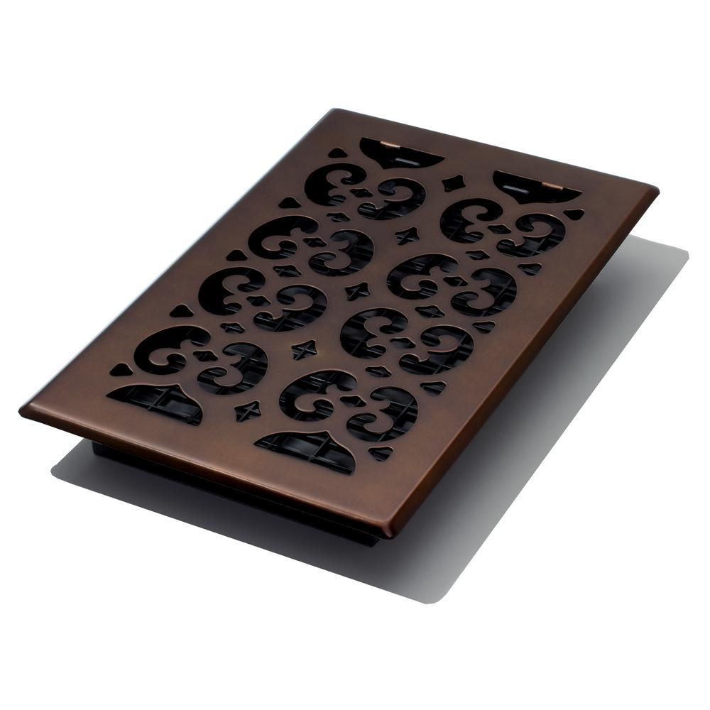 Decor Grates 6 In X 10 In Scroll Rub Bronze Floor Register Rubbed Bronze Bronze Decor Flooring