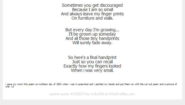 Effortless image for sometimes you get discouraged handprint poem printable
