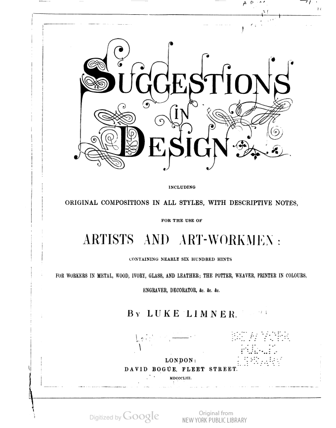 That Title Is Rather Lovely And Absurd Suggestions In Design By Luke Limmer Design Ornamentation This Book Is In The Public Domain