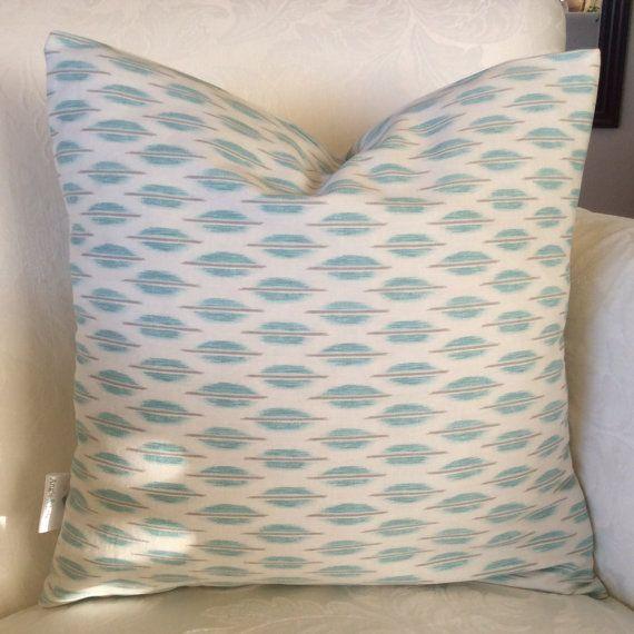 16x16 Teal Pillow Cover, White Trellis Pillow, Blue Nursery Pillow, Cushion,Teal Decorative Pillow, Home Decor,