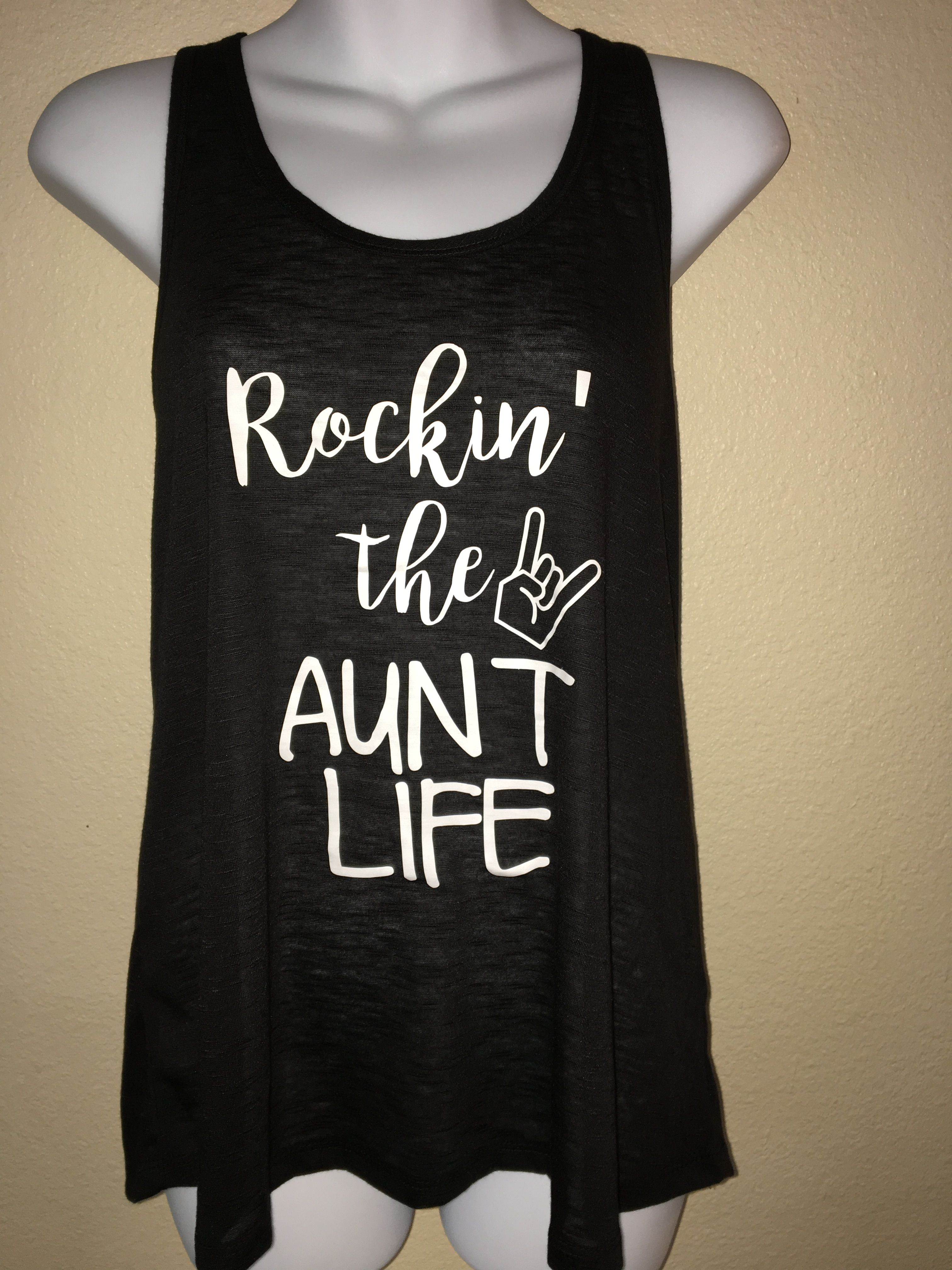 8baf8abdfe Women's Tank Top, Rockin the Aunt Life, I Love My Aunt, Proud Aunt ...