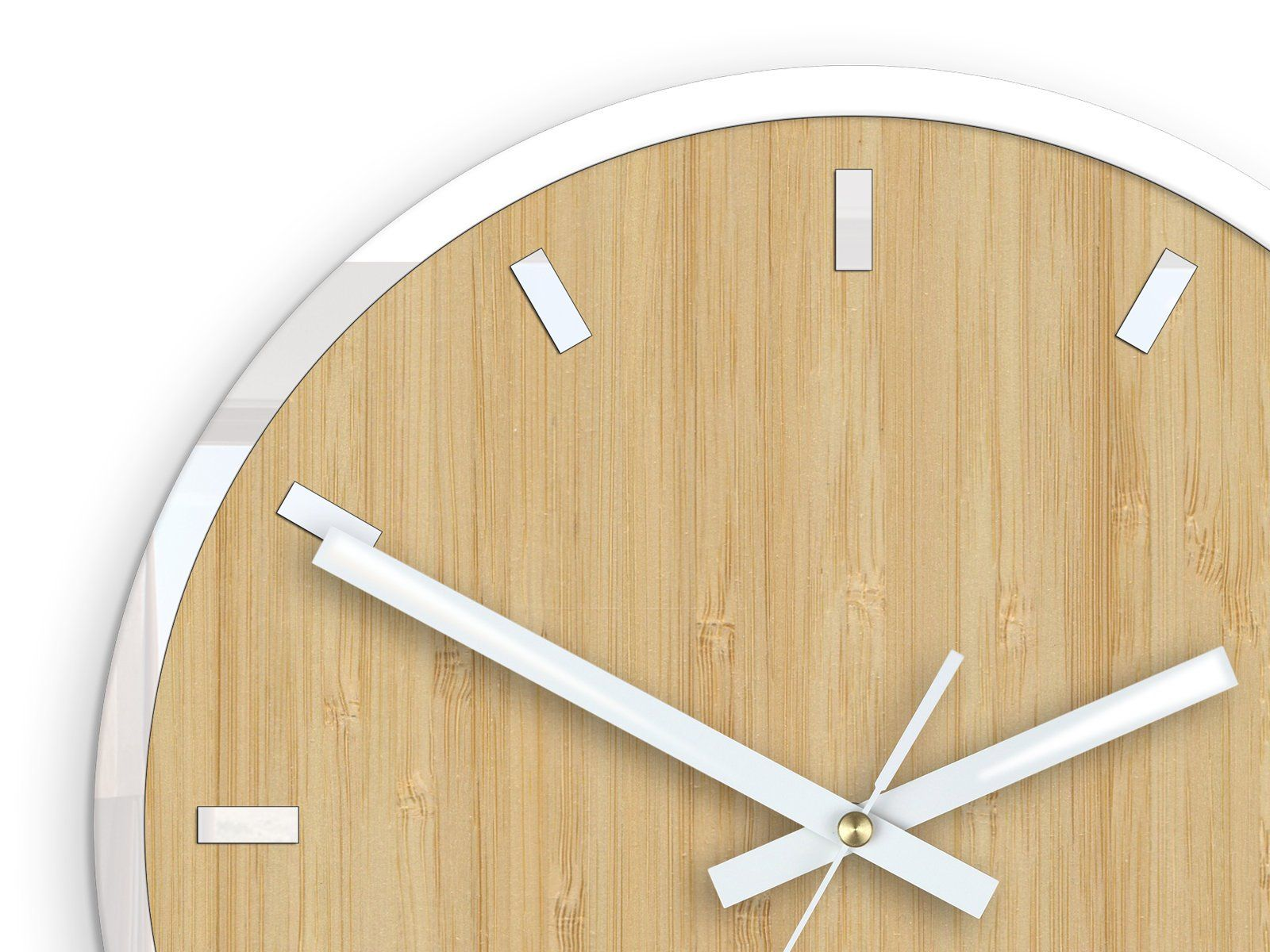 Large Wall Clock Bamboo With White Accessories Quiet And Etsy Large Wall Clock Wall Clock Colorful Wall Clocks