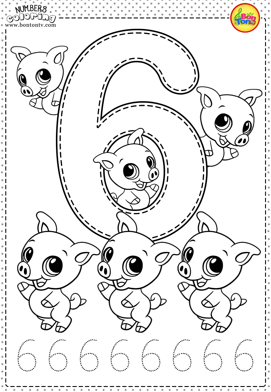 - Coloring Pages - Numbers 110 For Kids Math Printable Coloring
