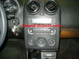 Pontiac G6 05 08 Stereo Removal Pontiac Repair Stereo