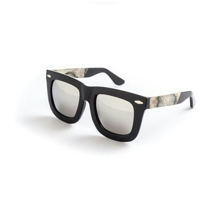 7b8754564d Silvano black oversized wayfarer style sunglasses with recycled skateboard  wood arms.