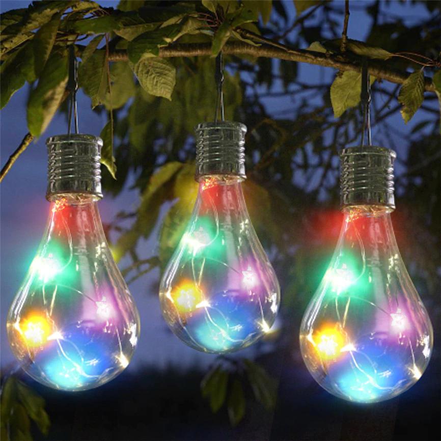 Solar Panel Led Waterproof Solar Light Bulb Outdoor Garden Great For Camping Easynightlight Com Solar Light Bulb Hanging Light Bulbs Hanging Light Lamp