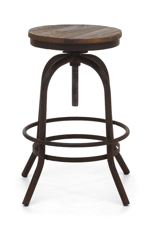 Backless Barhocker Metall   Stuhlede.com   Rustic bar stools ...
