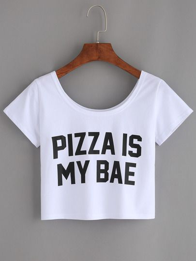 503e8055af8d7b Camiseta letras estampadas crop -blanco … | Tshirts & Co. | Ropa ...