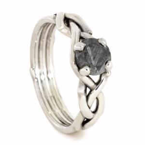 454c9942842 Meteorite Rings - Meteorite Wedding Bands