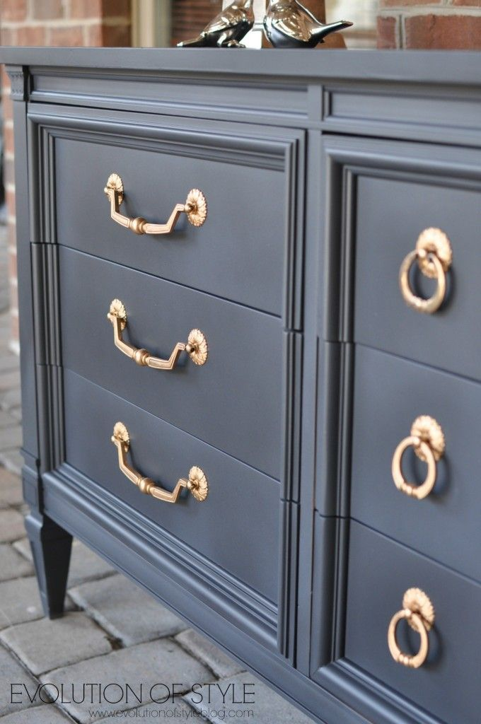 Dresser Transformed with Amy Howard's One Step Paint #painting