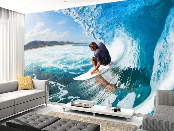 Cheap 3d Brick Wallpaper Surf Wall Murals Surf Wallpaper In 2019 Wall Murals