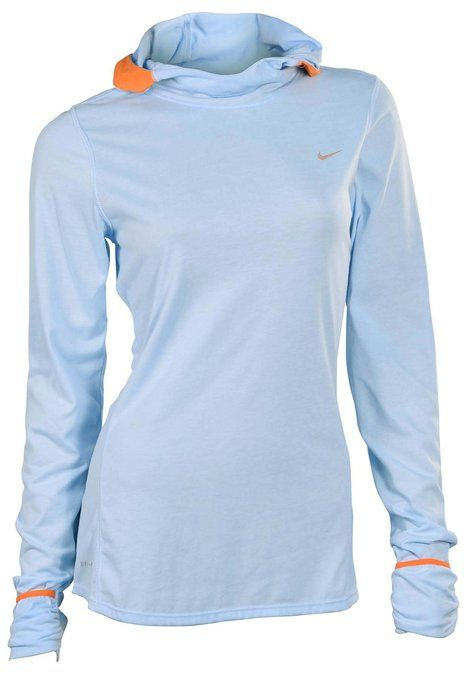 f675ea6729a5 Nike Women s Soft Hand Hoodie Hooded Running Shirt-Light Blue ...
