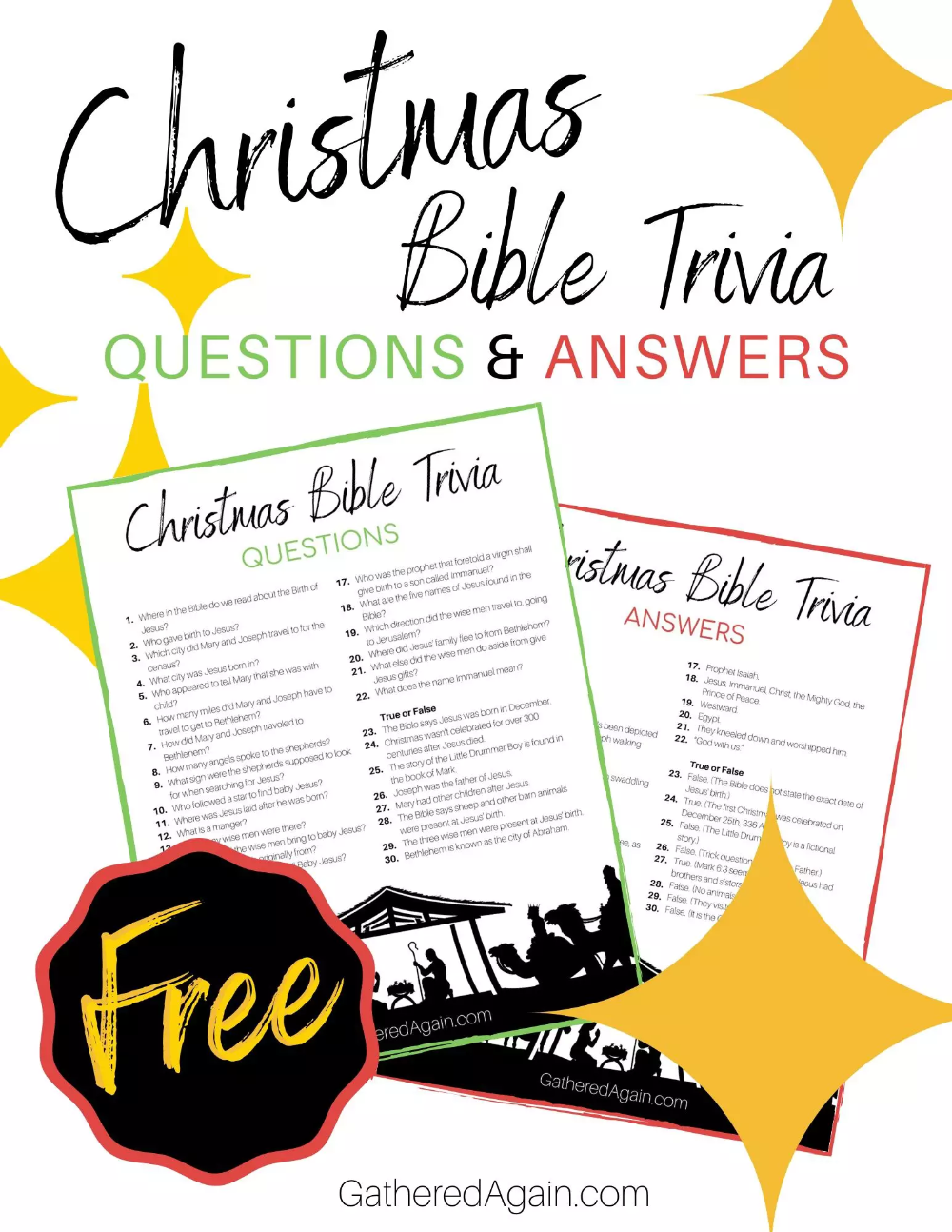 30 Christmas Bible Trivia Questions To Quiz Your Family Christmas Bible Christmas Bible Trivia Bible Facts