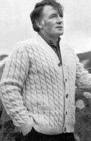d4d3fe1b3281f Free Knitting Pattern - Men s Cardigans  Men s Irish Cardigan ...