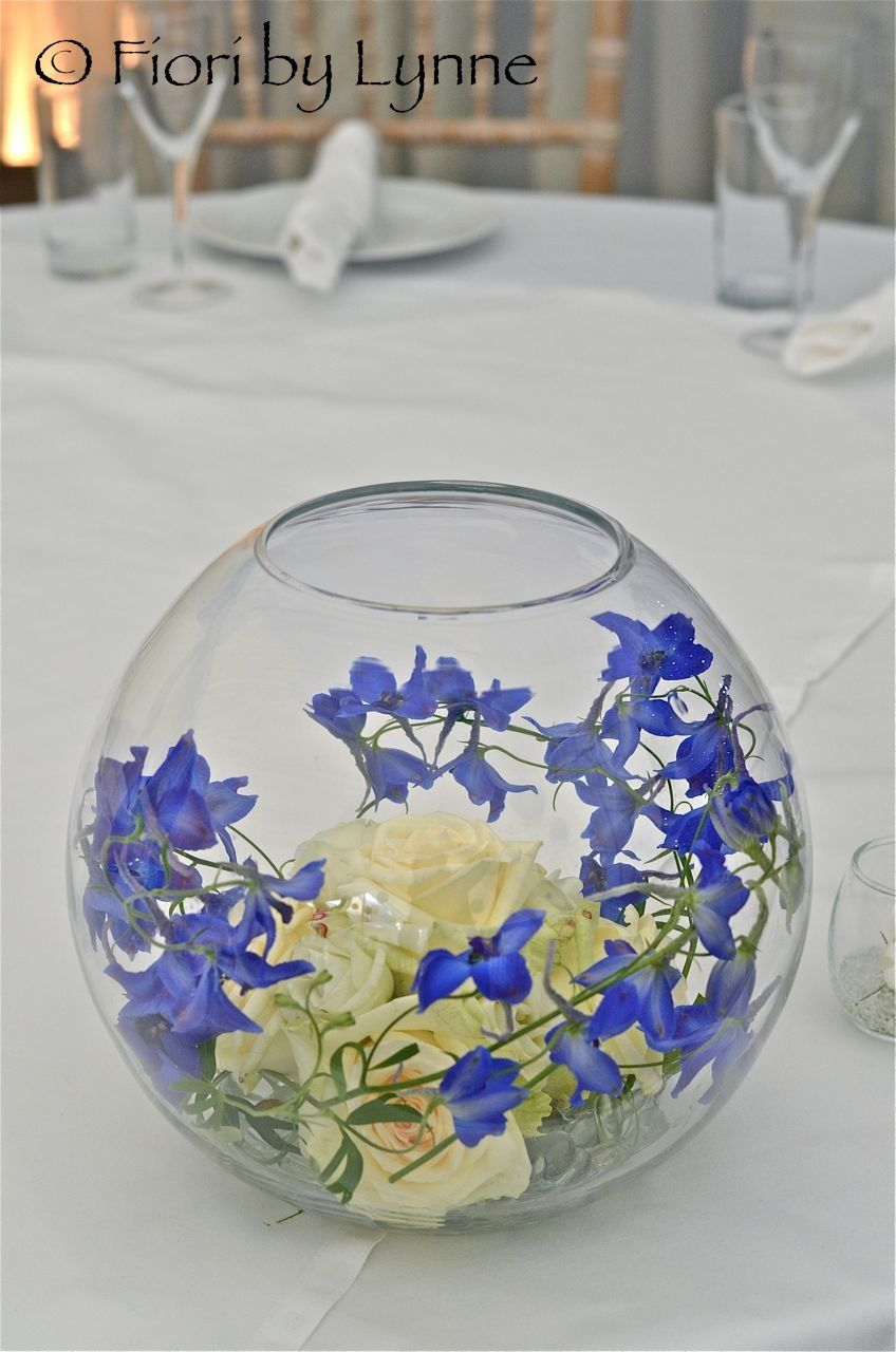 Image result for modern flowers in goldfish bowl   table centre ...