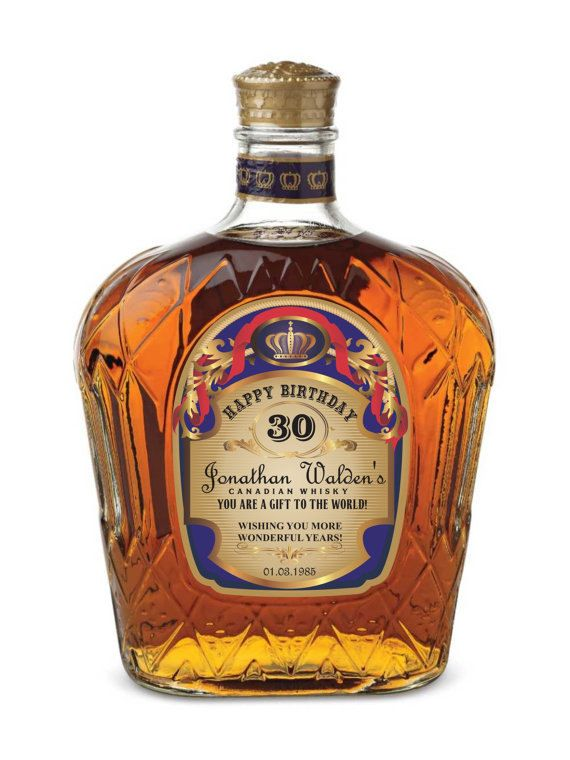 Custom/personalized Gold Crown Royal Label by LiquorLabels