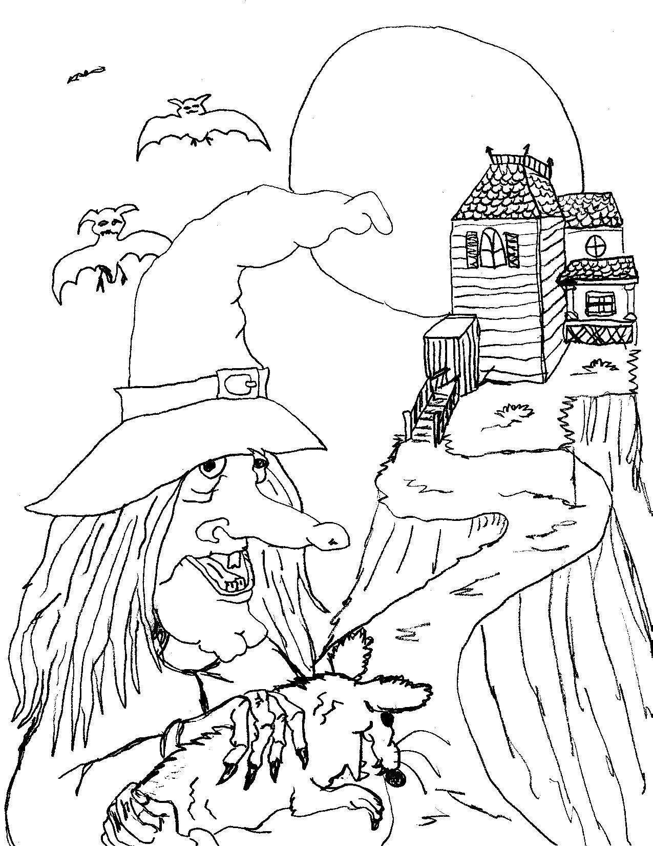 Scary Halloween Coloring Pages | ... january 6 2012 ...