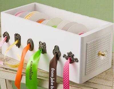 C mo hacer un organizador de cintas manualidades con - Ideas de manualidades para vender ...
