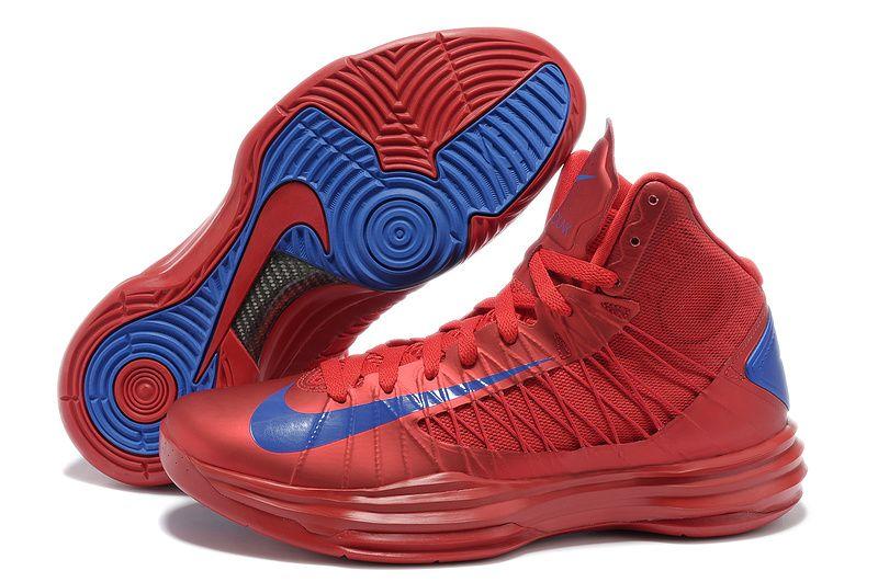 Buy New Men\u0027s Nike Lunar Hyperdunk 2013 University Red Game Royal  Basketball Shoes Shop