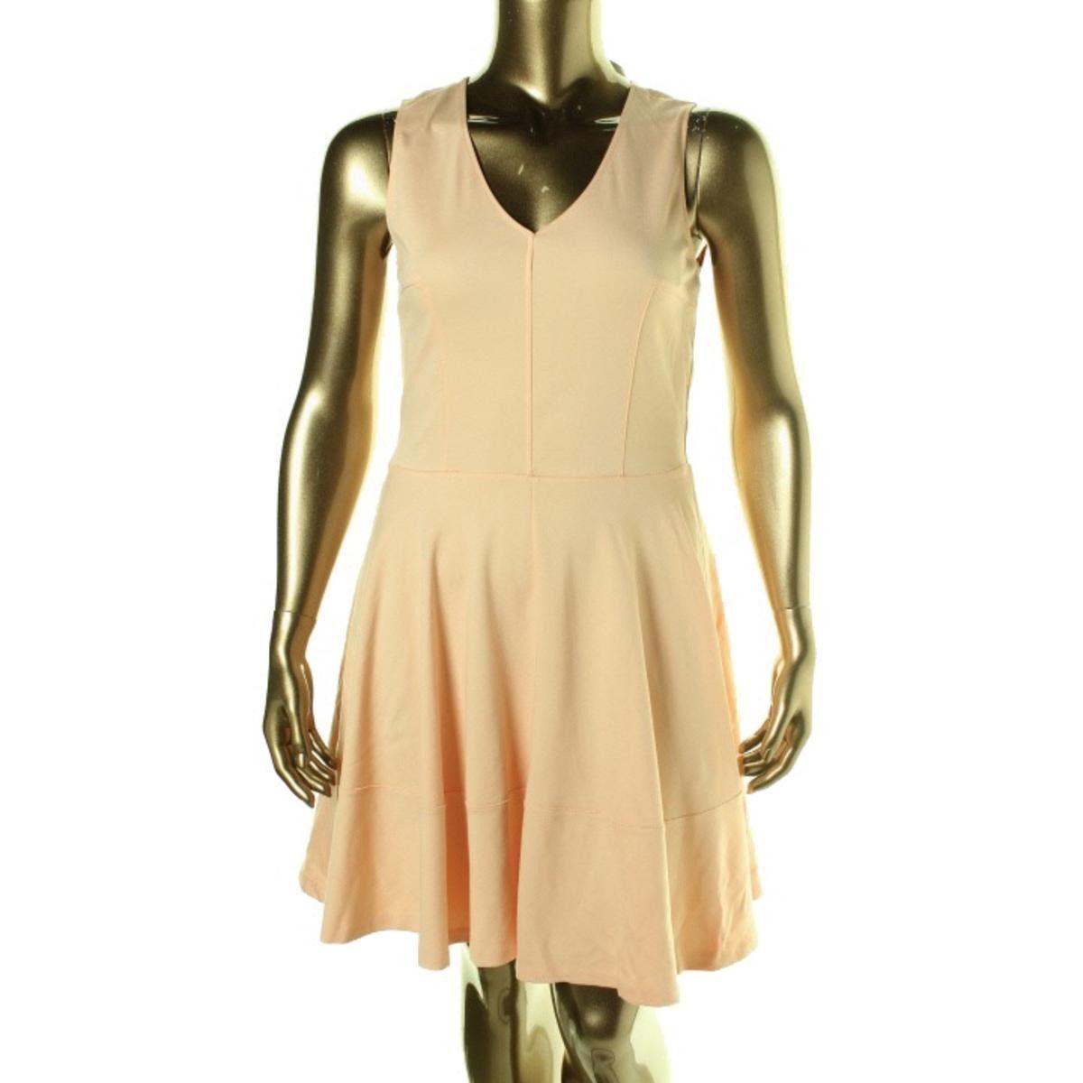 Bar III Womens A-Line Seamed Wear to Work Dress