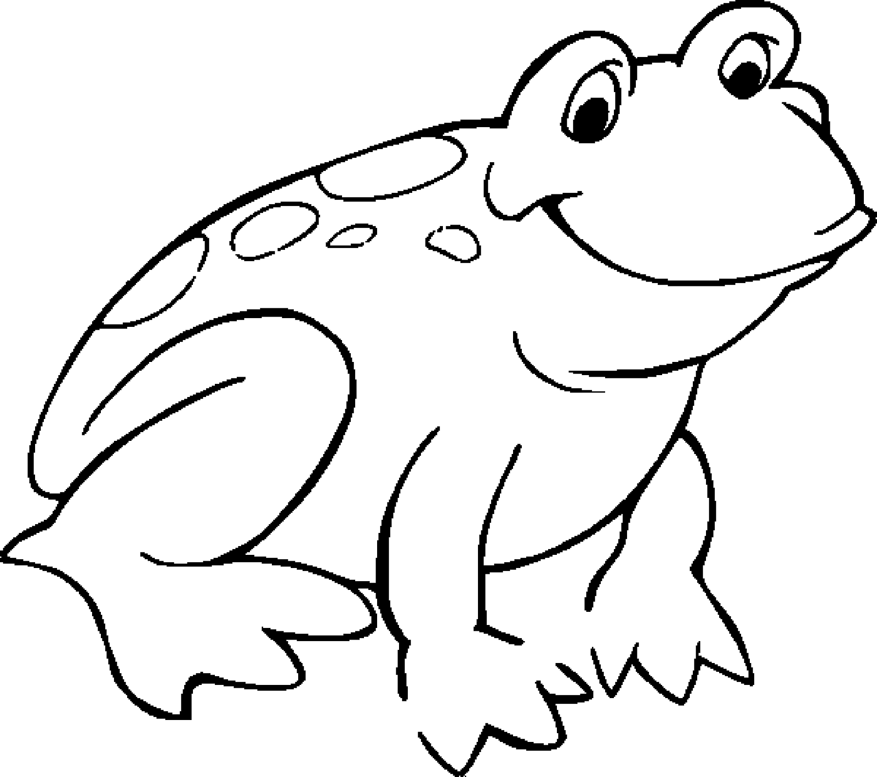 Frog Color Sheet for Kids Animal coloring pages, Frog