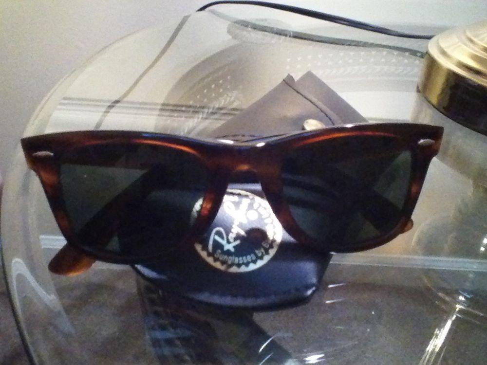 fd7952b14a Ray-Ban USA Wayfarer Authentic B L Tortoise 2054 Vintage in