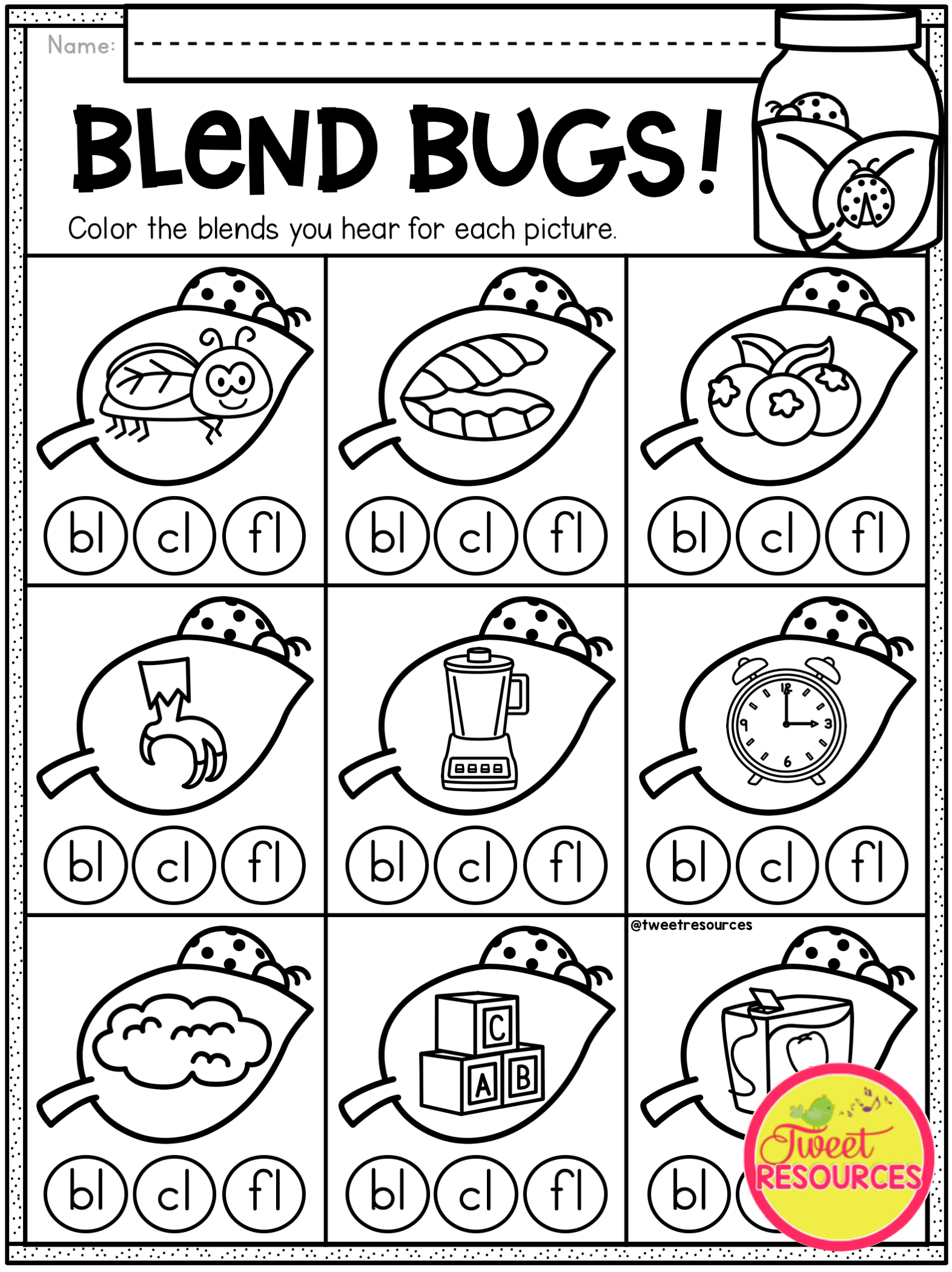 Kindergarten Math And Literacy Printables For Spring