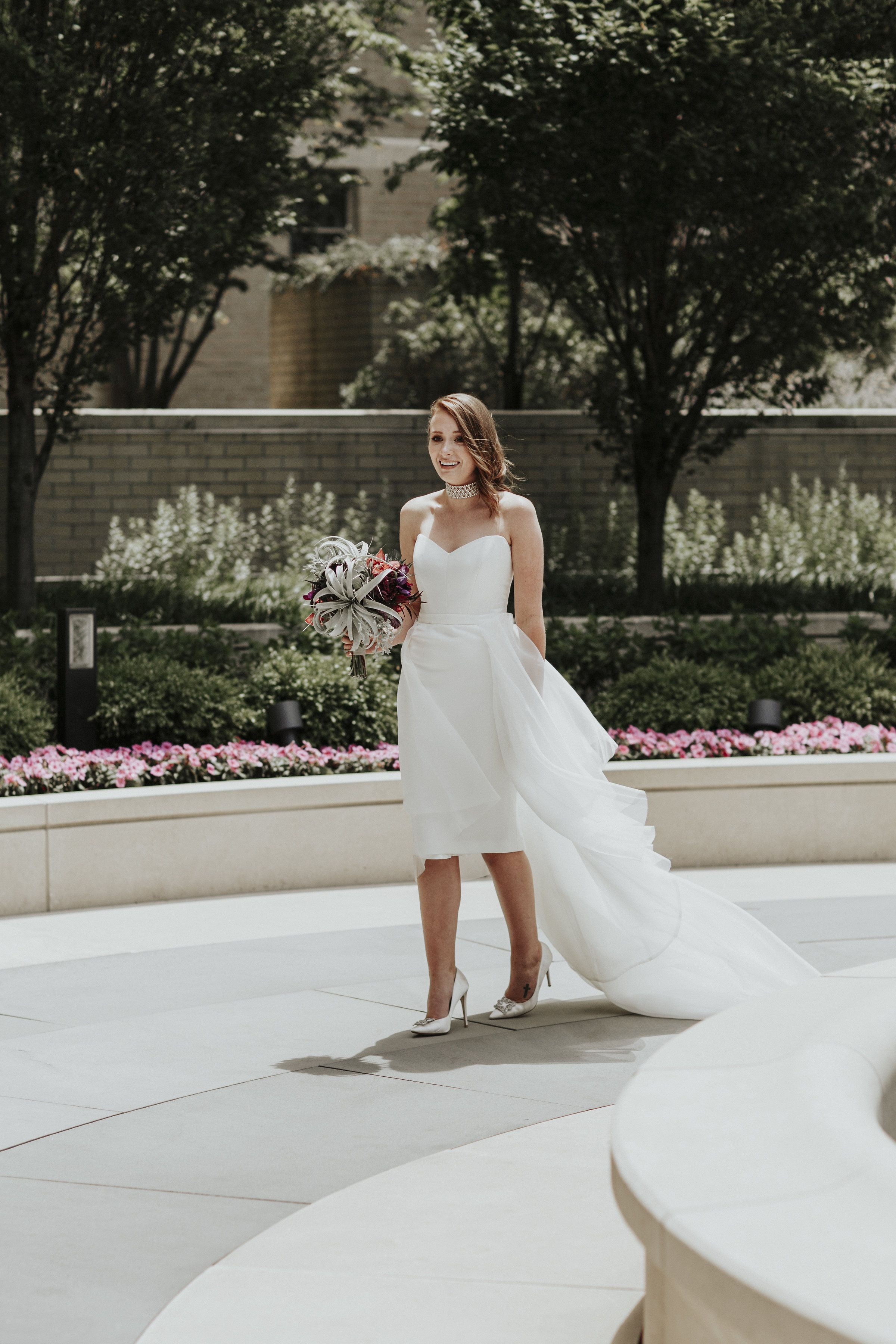 Kwh Bride Kelsey The Kitty Karly Gown Shortened To Knee Worn With