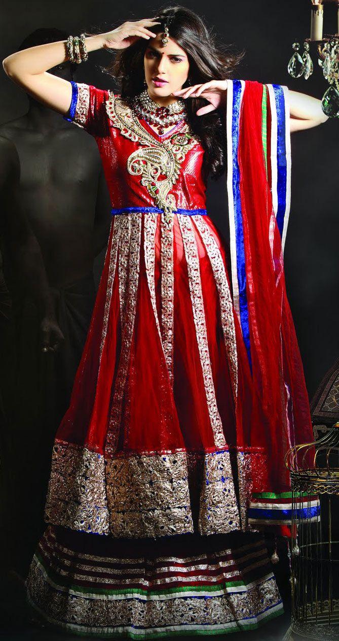 Red Net Sharara, Bridal Sahara, Wedding Sharara, Pakistani Bridal ...