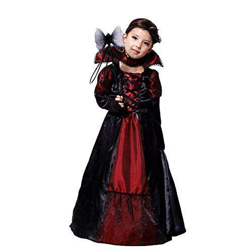 Deguisement Enfant Costume Halloween fille vampire comtesse M ...