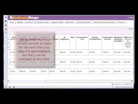 Mybookkeepingmanager A Simple Easy To Use Accounting