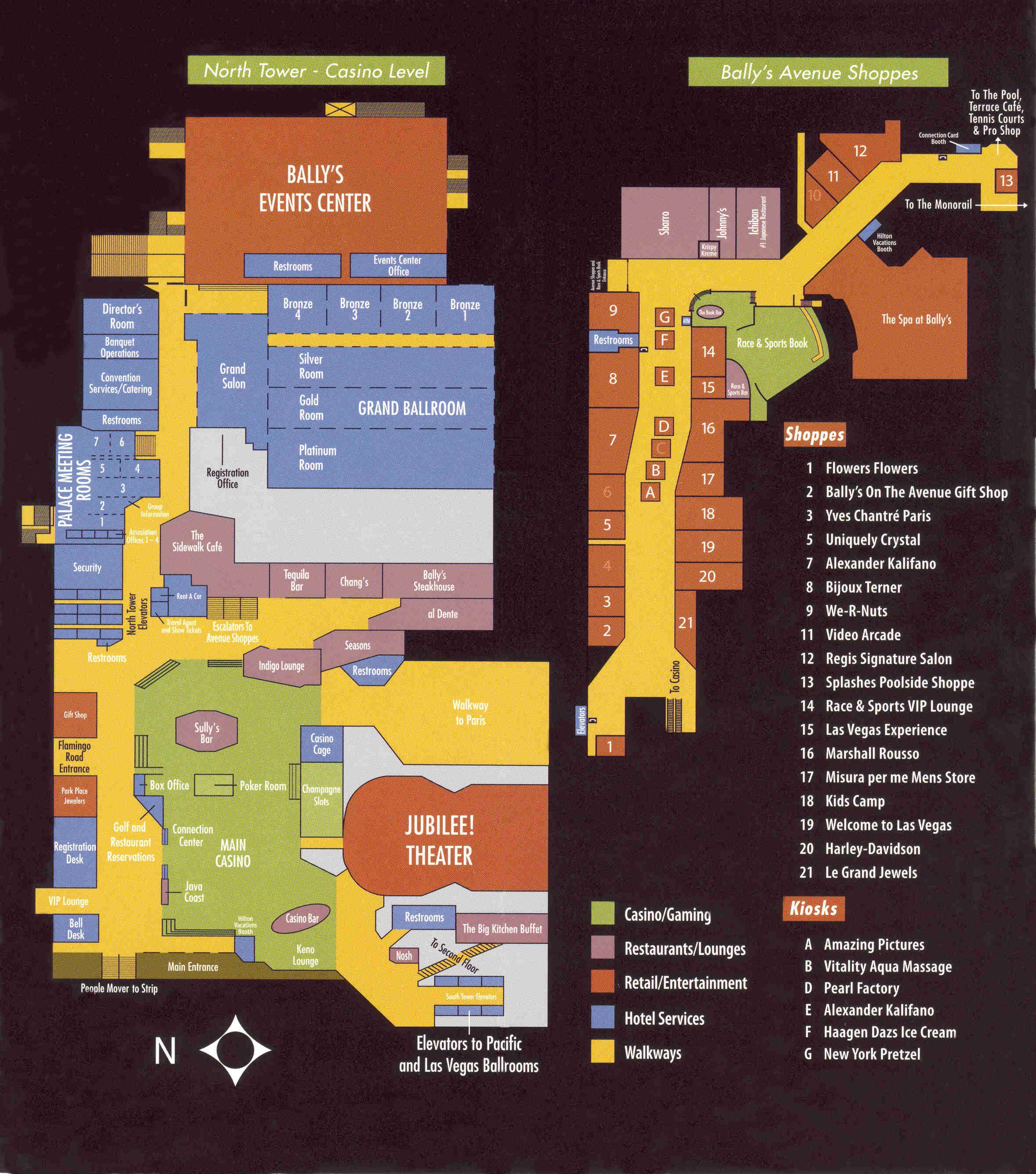Ballys casino floorplan casino gaming equipment manufacturer