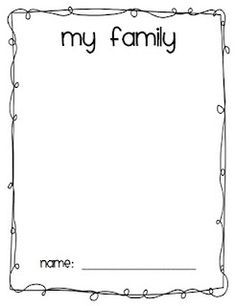 My Family Drawing print out | Newcomer Curriculum | Pinterest ...