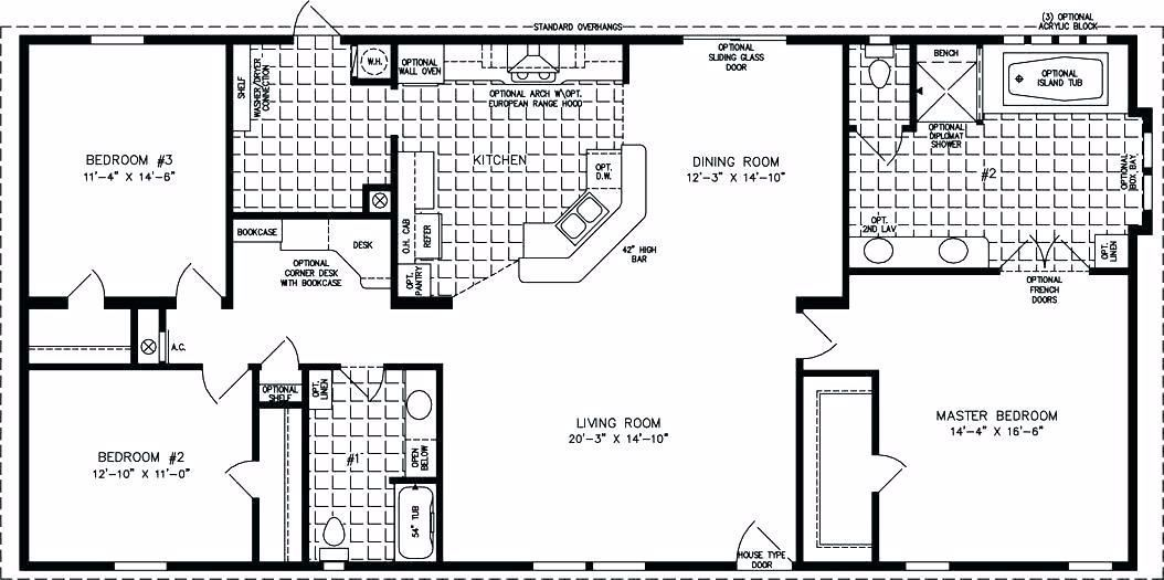 1500 Sq Ft House Plans Ranch In 2020 With Images Manufactured Homes Floor Plans Ranch House Plans House Plans One Story