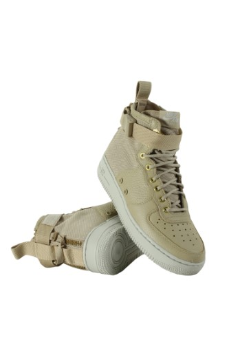 huge discount 5a92a 31d9a Nike SF Air Force 1 MID Womens Shoes Mushroom Light Bone Champignon (Brown Light  Bone Champignon) aa3966-200 (5 B(M) US)