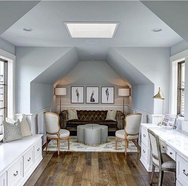 Attic Sitting Room Attic Design Attic Remodel Girl Bedroom Decor