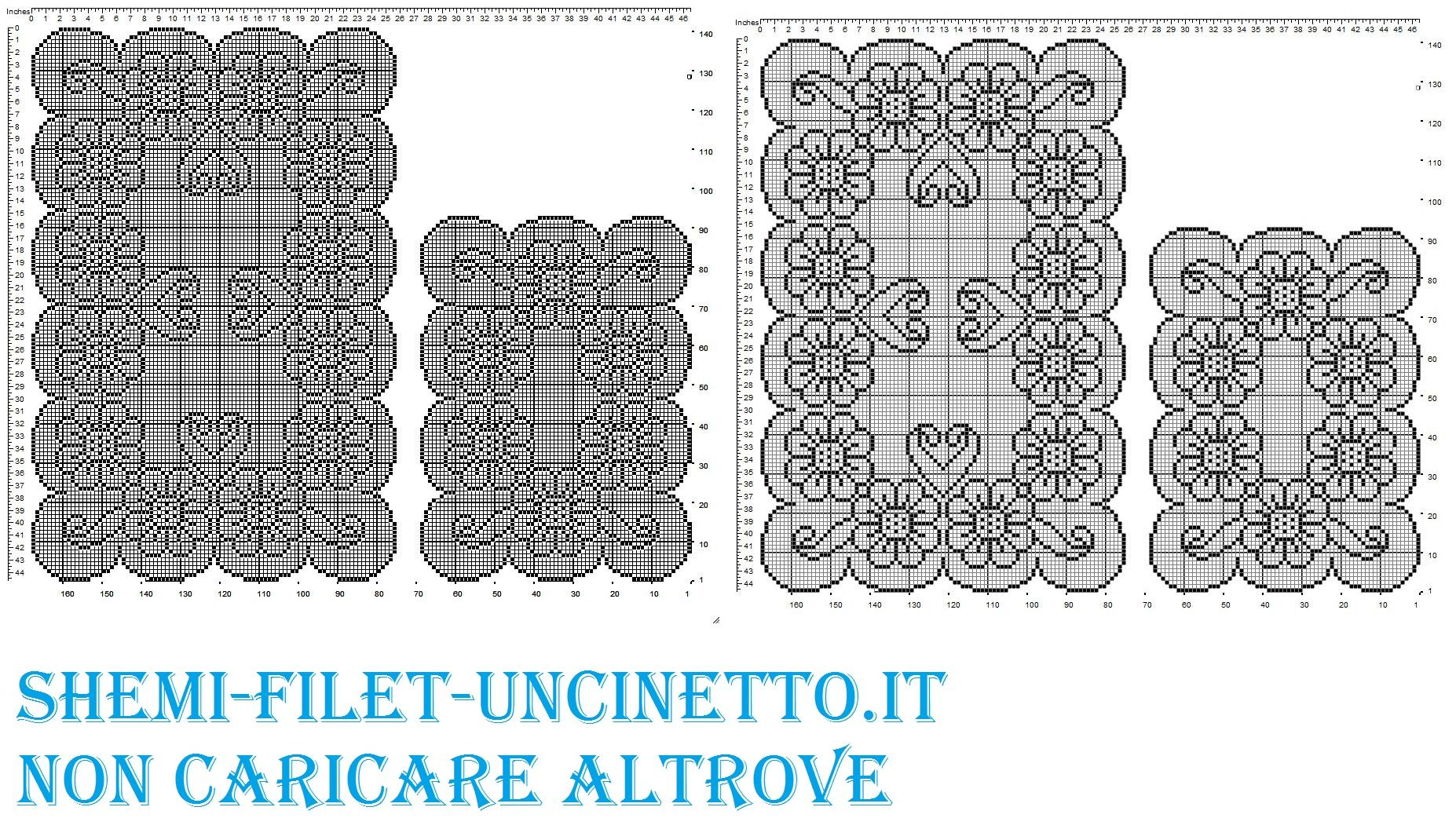 Trittico margherite filet uncinetto schema gratis for Centrini all uncinetto schemi gratis