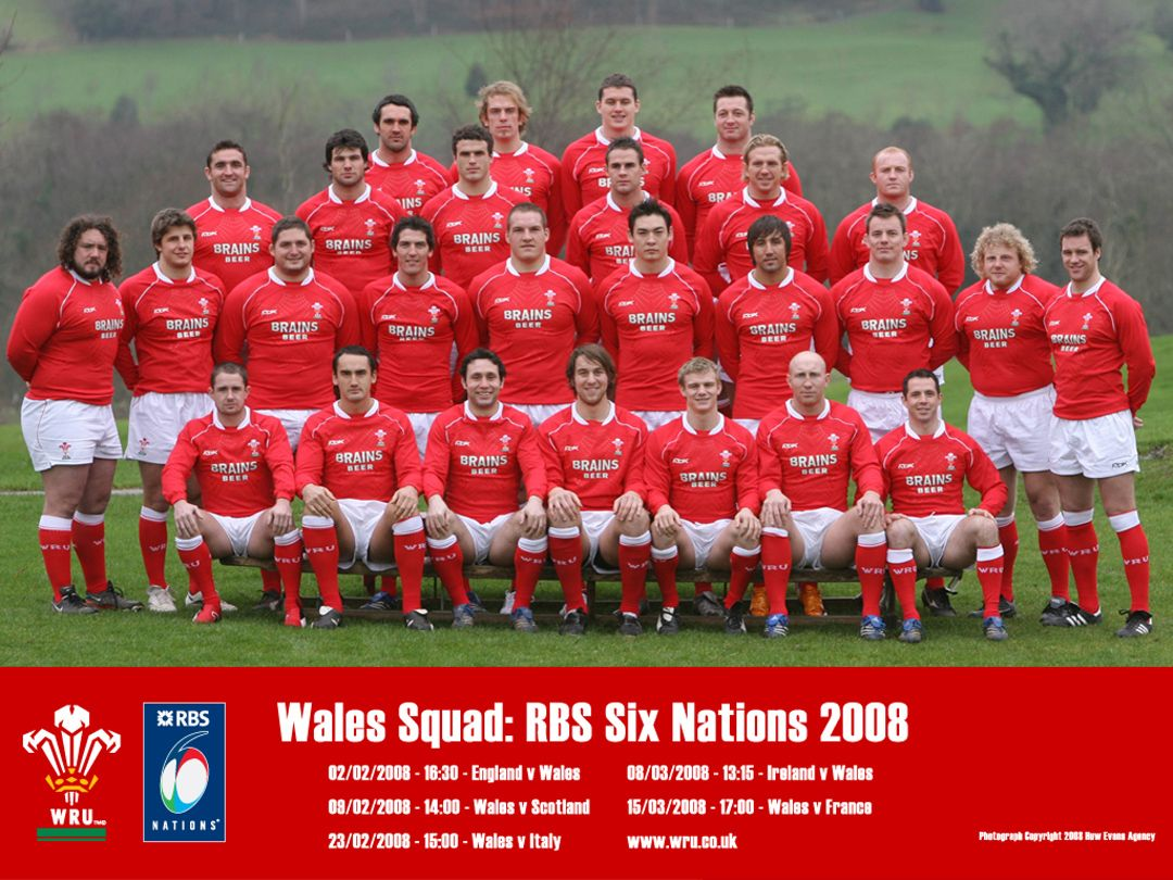 Wales Rugby Team Grand Slam 2008 Wales Rugby Rugby Wales Rugby Team
