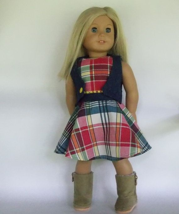 Hey, I found this really awesome Etsy listing at https://www.etsy.com/listing/459266580/red-yellow-green-blue-plaid-skater-dress