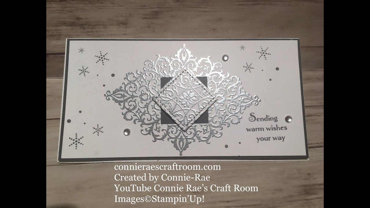 Stampin Up With Connie Rae Flourish Filigree Greeting Card