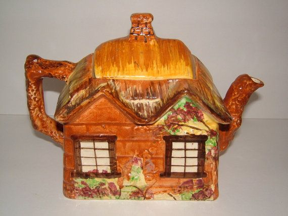 1950s Ye Olde England Cottage Teapot Rustic By Biminicricket Tea Pots Vintage Tea Pots Vintage Kitchen Decor