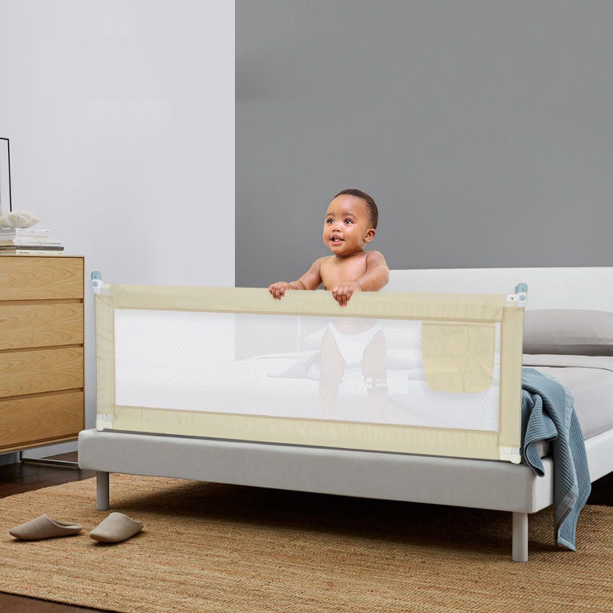 Baby guard bed rail toddler safety adjustable kids infant