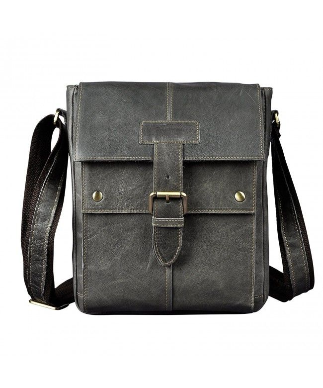 9936194ec1 Leather Messenger Shoulder Crossbody - Grey - C1189QAUCED  Bags  handbags   gifts  Style  Crossbody Bags