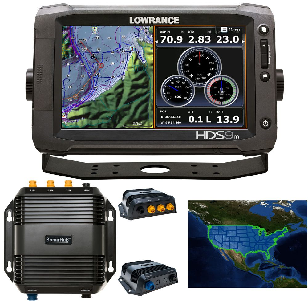 BOE Marine Lowrance HDS9M Gen2 Touch Chartplotter
